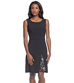 Nine West® Lace Panel Slit A-Line Dress