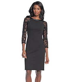 Adrianna Papell® Lace Sleeved Dress
