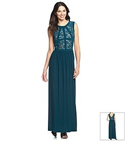 R&M Richards® Sleeveless Banded Top Long Dress
