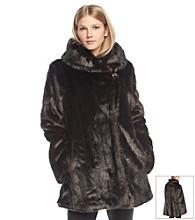 Jones New York® Shawl Collar Faux Fur Coat