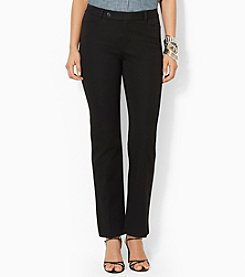Lauren Ralph Lauren® Petites' Stretch-Twill Slimming Straight Pants