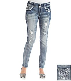 Wallflower® Bling Paisley Destructed Skinny