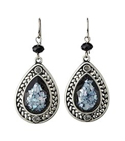 Laura Ashley® Black Teardrop Earrings