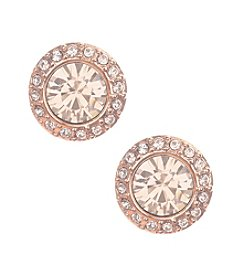 Givenchy® Rose Goldtone Button Stud Earrings