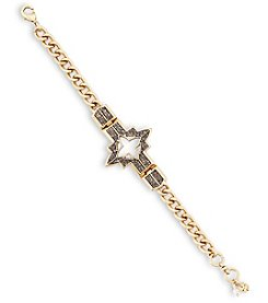 Lucky Brand® Two-Tone Pave Cross Bracelet