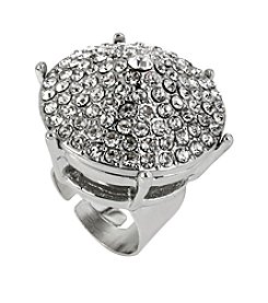 Steve Madden Crystal Pave Ring