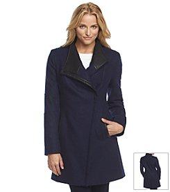 Calvin Klein Asymmetrical Zip Walker With Faux Leather Trim