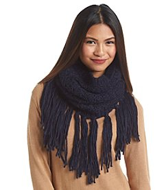 Collection 18 Solid Gypsy Fringe Loop Scarf