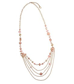 Erica Lyons® Invitation Only Blush Chain and Bead Strand Necklace