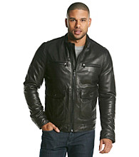 MICHAEL Michael Kors® Men's Lamb Leather With Stand Collar