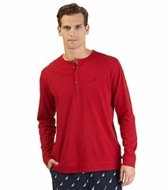 Nautica® Men's Knit Long Sleeve Solid Henley