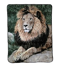 Shavel Home Products Hi Pile Mighty Lion Oversized Throw