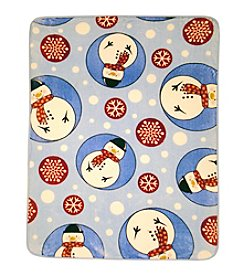 Shavel Home Products Hi Pile Snowman Oversized Throw