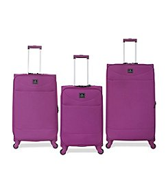 French West Indies Purple Drift Luggage Collection