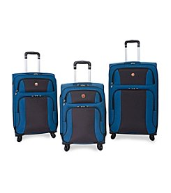 SwissGear® Blue and Grey Upright Spinner Luggage Collection