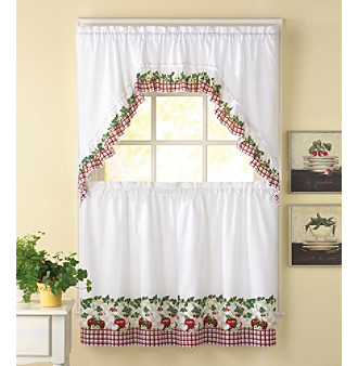 CHF Apple Blossom Tier and Swag Valance Set