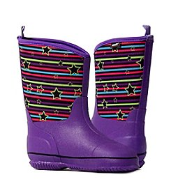 MUK LUKS Girls' Little Splashers Rain Boots