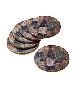 Thirstystone® Cork Drink Coasters Set, Pinot I