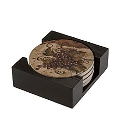 Thirstystone® Dolomite Coaster Gift Set, Grapes
