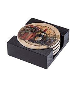 Thirstystone® Dolomite Coaster Gift Set, Wine Picnic