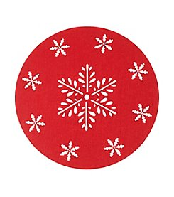 LivingQuarters Felt Round Snowflake Cut-Out Placemat