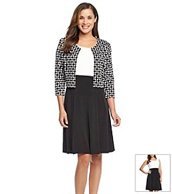Jessica Howard® Geometric Print Jacket Dress