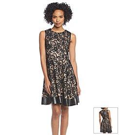 Jessica Simpson Lace Fit & Flare Dress