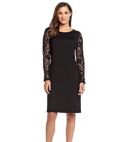 Jessica Howard® Lace Sleeve Sweater Dress
