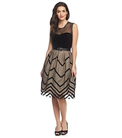 Jessica Howard® Sleeveless Illusion Neck Party Dress