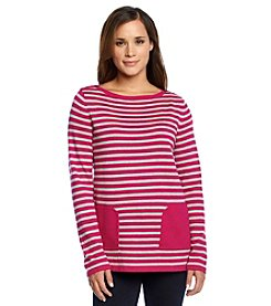 Jones New York Signature® Striped Tunic With Pockets