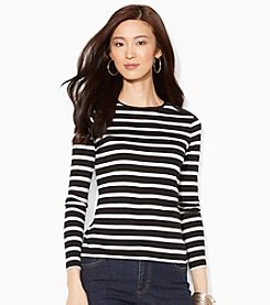 Lauren Ralph Lauren® Buttoned-Shoulder Striped Top