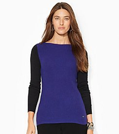 Lauren Ralph Lauren® Color-Blocked Boatneck Sweater