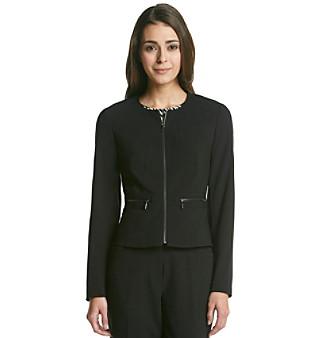 Calvin Klein Petites' Collarless Suit Jacket