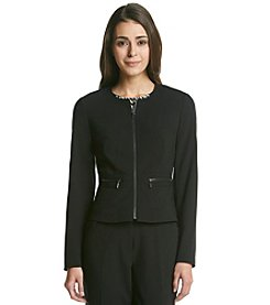 Calvin Klein Petites' Collarless Suit Jacket
