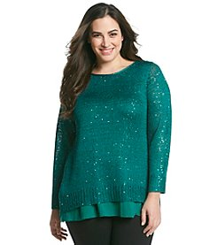 Chelsea & Theodore® Plus Size Sequin Sweater