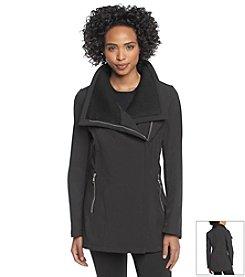 Calvin Klein Asymmetrical Front Zip Coat