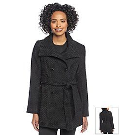 Calvin Klein Double Breasted Funnel Neck Coat