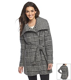 Jessica Simpson Mixed Houndstooth Coat