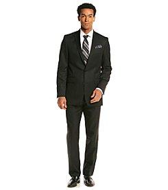 Tallia® Orange Men's Black Shadow Stripe Suit Separate