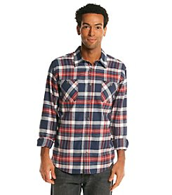 Weatherproof® Vintage Men's Long Sleeve Flannel With Chambray Trim