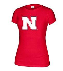 J. America® Women's University Of Nebraska Large Logo Short Sleeve Tee