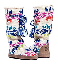 MUK LUKS Grace Snowflake Slipper Boots
