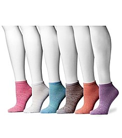 MUK LUKS Women's 6-Pack Microfiber No-Show Socks
