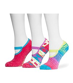 MUK LUKS Women's 3-Pack Aloe Maryjane Socks
