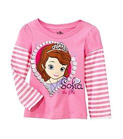 Nannette® Girls' 2T-4T Long Sleeve Striped Sofia Tee *