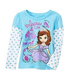 Nannette® Girls' Long Sleeve Sofia Princess Life Tee *