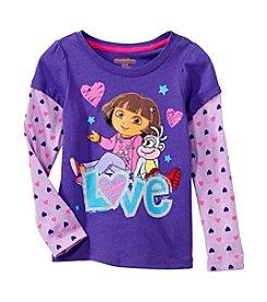 Nannette® Girls' Long Sleeve Dora Love Tee