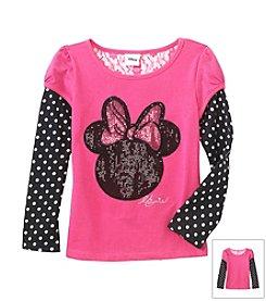 Nannette® Girls' Long Sleeve Minnie Polka Dot Tee