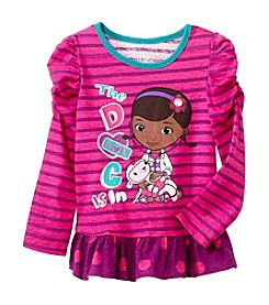 Nannette® Girls' Long Sleeve Striped Doc McStuffins Tee