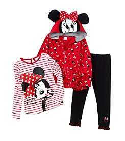 Nannette® Girls' 2T-6X 3-Piece Minnie Hoodie Set